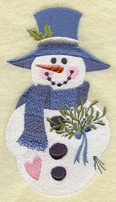 Country Christmas Snowman - Winter Bouquet - G7755