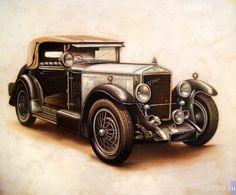 Retro car | The artworks | Smorodinov Ruslan | Paintings | ARTPO: art for sale…