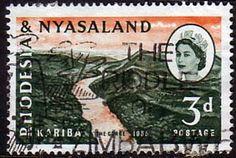 Rhodesia and Nyasaland 1960 Kariba Dam Fine Mint SG 32 Scott 172 For Sale Take A LOOK