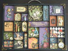 Alice in Wonderland Halloween Shadow Box by OddHourDesigns on Etsy, $110.00