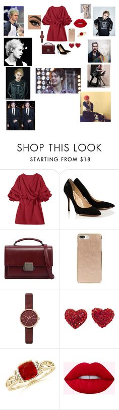 """dinner party with him💜"" by briannacliffs ❤ liked on Polyvore featuring beauty, Yves Saint Laurent, Kate Spade and Skagen"