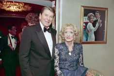 Bette Davis with President Ronald Reagan (her co-star in 1939's ''Dark Victory'') in 1987, two years before her death.