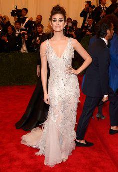 Actress Emmy Rossum Wearing: Donna Karan Atelier Credit: Getty Images