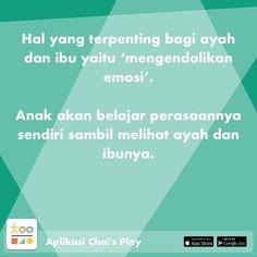 Satu sehari, tips permainan & pengasuhan anak, hanya di Chai's Play Parenting Quotes, Kids And Parenting, Quotes Indonesia, Wedding Quotes, Super Mom, Social Platform, Psychology, It Hurts, Knowledge