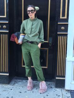 GLAMOUR Fashion Director Veronique Tristram #NYFW #streetstyle #fendi