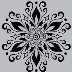 Mandala Stencils, Stencil Patterns, Embroidery Patterns, Mandala Drawing, Mandala Art, Diy And Crafts, Paper Crafts, Stencil Printing, Wood Burning Patterns