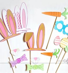 ❤ Free Easter photo-booth props  (free printable) ❤Mindy -  craft idea & DIY tutorial collection