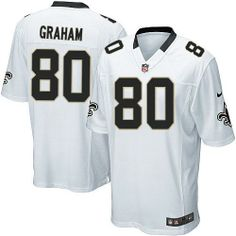 Youth Limited Jimmy Graham Jersey Nike New Orleans Saints #80 Away White NFL Jerseys