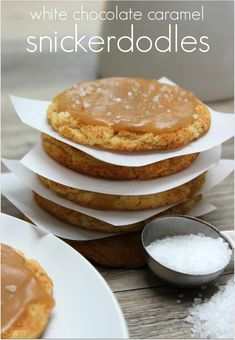 White Chocolate Caramel Snickerdoodles