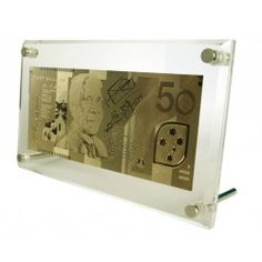 Great 'Gold' Anniversary gift. 24 carat gold 50dollar note replica |Free Delivery in Australia at Red Wrappings|