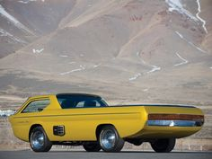 Not quite gorgeous, but cool. From back when the future was still something we looked forward to, cab forward that is. Dodge Deora Pickup 1965