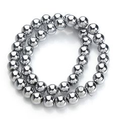 40cm/strand 6/8/10mm silver plated Round Hematite Beads (Not Magnetic) Fits DIY Hematite Necklace Jewelry Making F1472