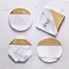 3 Styles Round Square Octagon Dali Marble Cup Mat Gold Marble Coaster Cup Mat Placemat Pad Holder Mug Coaster Table Placemat Gold Coasters, Marble Coasters, Ceramic Coasters, Stone Coasters, Modern Coasters, Coaster Design, Coaster Set, Home Office Accessories, Cup Mat