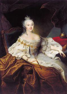 Rossii - Portrait of Empress Elizabeth Petrovna of Russia