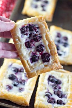This homemade Danish recipe is the best! Make it with puff pasty shell, cream cheese, fresh fruit like blueberries and a drizzle of homemade icing on top. Danish Recipe Puff Pastry, Puff Pastry Desserts, Puff Pastry Recipes, Flaky Pastry, Pastries Recipes, Homemade Danish Recipe, Homemade Pastries, Danish Cuisine, Danish Food