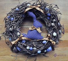~ Easter wreath violet rabbit bunny by botanicbotanic on Etsy Happy Easter, Easter Bunny, Easter Eggs, Easter Table, Easter Party, Easter Wreaths, Christmas Wreaths, Christmas Crafts, Kanzashi