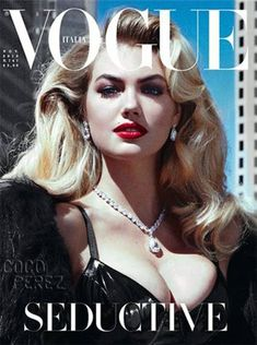 Get The Look: Kate Upton's #Vogue Italia #Hair