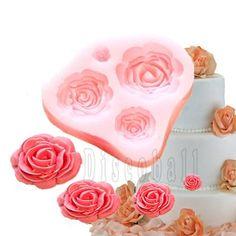 4 Tamaño Rosa Flor de silicona del molde de la torta Decoración Fondant Fimo Sugarcraft discoball http://www.amazon.es/dp/B00HF0QBD8/ref=cm_sw_r_pi_dp_RUi3vb1NXD8BK
