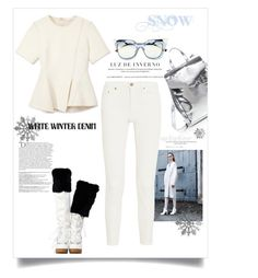 """Winter White Denim"" by belldraw ❤ liked on Polyvore featuring Krizia, Alexander Wang, Loeffler Randall, Fendi, Givenchy, Balmain, Acne Studios and winterwhite"