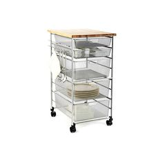 Platinum Elfa Kitchen Cart