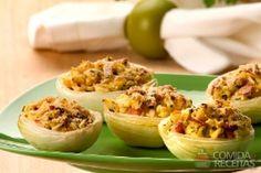 Receita de Cebola recheada em receitas de legumes e verduras, veja essa e outras receitas aqui!