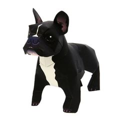 Adorable free papercraft from #Canon (that would take up a crapload of ink to print). Well played Canon, well played. http://cp.c-ij.com/en/contents/3156/french-bulldog/index.html