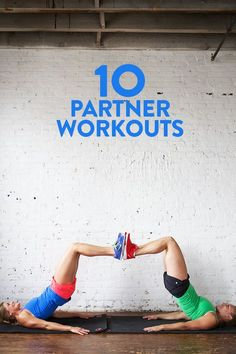Fitness Inspiration : Illustration Description Grab a pal and get sweaty! Here's 10 fabulous partner workouts that you can do with a friend! -Read More – Fitness Workouts, Buddy Workouts, At Home Workouts, Male Workouts, Workout Bodyweight, Yoga Fitness, Crossfit, Couples Workout Routine, Couple Workout