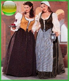 Butterick 6198 Medieval/Renaissance Wench Bodice Skirt Plus Size Patterns