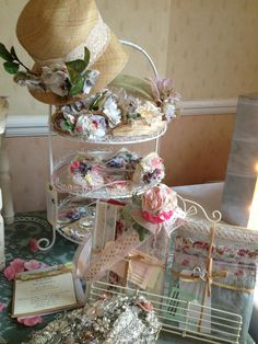 Studio-Textiles' products on display for Lovely and Vintage Wedding Fayres.