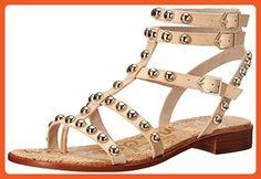 Sam Edelman Women's Eavan Gladiator Sandal, Natural Naked, 6 M US - Sandals for women (*Amazon Partner-Link)