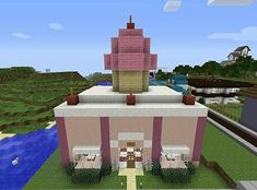 Sweet Stuff Bakery Minecraft Project - Vi will be stoked! Minecraft Mods, Minecraft Bakery, Minecraft Stores, Modern Minecraft Houses, Amazing Minecraft, Minecraft House Designs, Minecraft Blueprints, Minecraft Architecture, Minecraft Crafts