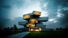 Modern House by Sérgio Merêces, via Behance
