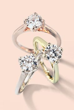 Express your love with this unique east-west engagement ring from Blue Nile. Available in 14k rose gold, white gold, and yellow gold.