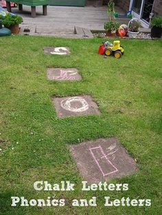 Chalk Letters having fun with letter names and phonics