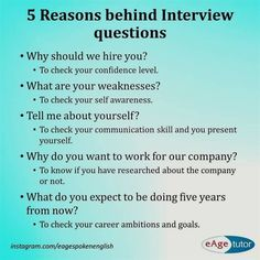 Ever wondered what interviewers think when they ask these questions?Ever wondered what interviewers think when they ask these questions? Here are some common interview questions and reasons behind them. Common Interview Questions, Interview Answers, Interview Skills, Job Interview Tips, Job Interviews, Starbucks Interview Questions, Interview Tips Weaknesses, Behavioral Interview, Job Resume