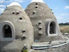 Earthbag Construction Ideas.  Eco Dome Tanzania External View
