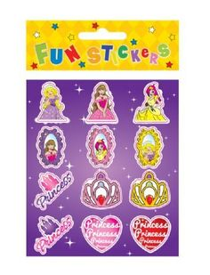 120 x 12pk Princess Stickers (ppp) from David S Sales (N51063)