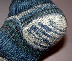 Носочная пятка с клином. Мастер-класс с фото http://tru-knitting.blogspot.ru/2015/02/blog-post_25.html