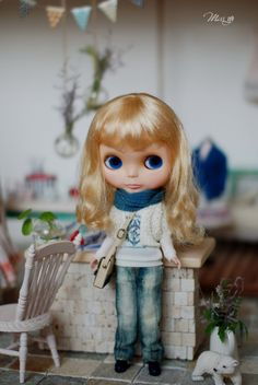 Miss yo hand-knitted hollow pattern cardigan for Blythe doll - doll outfit - White via Etsy.