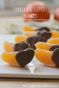 Just 3 ingredients to make these delicious chocolate dipped orange slices.  A perfect low calorie treat that takes just minutes to make.