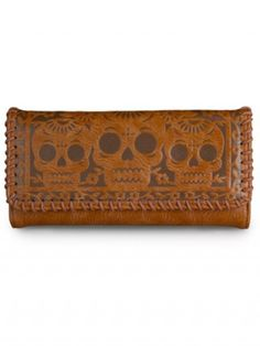Faux Leather Skull/Birds Wallet by Loungefly (Brown)