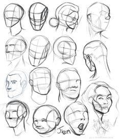 Anatomy Sketches, Anatomy Drawing, Anatomy Art, Art Drawings Sketches, Portrait Drawing Tips, Drawing Reference Poses, Drawing Poses, Drawing Heads, Drawing The Human Head