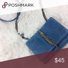 HP✨ZARA blue leather+metal detail crossbody bag Brand : ZARA Size : OS Condition : perfect condition; NWT   *blue leather *silver hardware Zara Bags Baby Bags