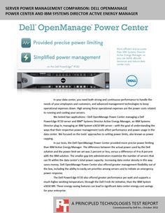 Server power management comparison: Dell OpenManage Power Center and IBM Systems Director Active Energy Manager http://facts.pt/1iS74LV