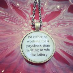 bright eyes lyric quote necklace by SuperFantasticJulie on Etsy, $16.00