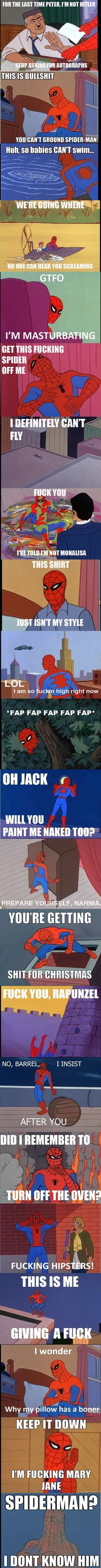 Hahah I love Spider-Man but sometimes I was wondering what he was doing.