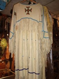 Image detail for -dress this contemporary nez perce dress is made of brain tan buckskin ...