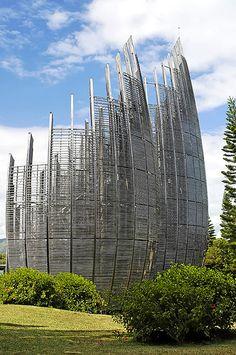 Jean-Marie Tjibaou Cultural Center, New Caledonia by Renzo Piano ☮k☮ #architecture