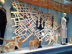 Image result for window displays with maps