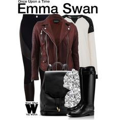 Inspired by Jennifer Morrison as Emma Swan on Once Upon a Time. #television #wearwhatyouwatch